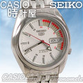 CASIO 時計屋 SEIKO 精工機械錶系列 SNK369K1 白底雙色機械男錶 透明背蓋 全新有保固 附發票