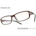 【金橘眼鏡】Simple Life眼鏡框 無螺絲設計# SL165 C4B咖啡 限量新系列(免運費)