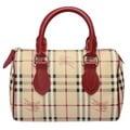 BURBERRY 經典戰馬格紋手提波士頓包(紅色) 3806787-MILITARY-RED
