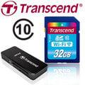 ※贈創見讀卡機※【Transcend 創見】 32GB Wi-Fi WIFI SDHC SD C10 無線分享 記憶卡