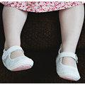 【hella 媽咪寶貝】美國 Rileyroos 手工真皮無毒學步鞋/童鞋/寶寶鞋/嬰兒鞋 瑪莉珍鞋 純潔白