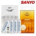 【電子超商】SANYO 三洋 旗艦型LCD極速充/放電器 SYNC-N01+三洋 SANYO eneloop 3號/4號 (可充1800次) 低自放充電