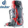 【Deuter】65+10L輕量拔熱式透氣背包 Act Lite登山健行背包/雙肩背包/自助旅行包★滿額送好禮★4340115 黑/紅