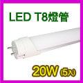 台灣製造WTC5入裝 [樂活屋] LED 20W T8燈管4呎尺/120公分100-240V,取代傳統日光燈管,散熱佳,光線柔無炫光,節能省電環保不含汞鉛、紫外線