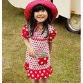 【童心樂園】澳洲 oobi 可愛蘋果口袋洋裝(藍底紅蘋果)