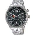 CITIZEN WATCH Eco-Drive 星辰錶 兩地時間 商務時尚錶 型號:BR0010-56E黑色【分期0利率,免運費】《神梭鐘錶-實體店面》