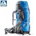 【德國 Deuter】Aircontact PRO 拔熱透氣背包 60+15L 登山背包.露營背包雙肩背包.旅行包/ 33823 藍/灰