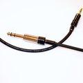 志達電子 CAB087/1.0 線長 1.0米 T-LAB 音頻線 立體6.3mm to 立體3.5mm 轉接線 philips X1 耳機升級線
