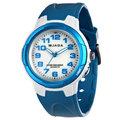 {時間伙伴} [免運費] JAGA捷卡 運動/休閒/冷光/指針女錶(白藍)~AQ71A-DE