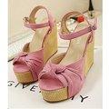 【ALicE】Y261-6 香榭時尚扭結楔型鞋-粉