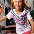 NB特價 運動流行品牌Newbalance 童裝 百貨專櫃 台灣製造 造型線條 大女孩圓領上衣 深藍、白2色 130~150公分