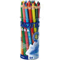 【義大利 GIOTTO】MEGA六角胖色鉛筆(12色24支裝)