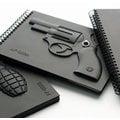 天晴設計│精裝本造型設計【左輪手槍空白筆記本】《隨附送禮精美禮袋》