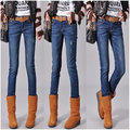 【ALicE】D353-5 丹寧時尚.超激瘦修身內刷毛牛仔褲-藍