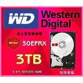 『高雄程傑電腦』WD 威騰 Red 3TB 3.5吋 5400轉 64M快取 SATA3 紅標硬碟 ( WD30EFRX)