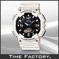 【時間工廠】CASIO 大錶徑白x黑 GA造型雙顯錶 AQ-S810WC-7A 全新現貨可超取 直接下標免問