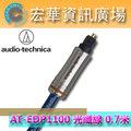 ☆宏華資訊廣場☆ 鐵三角 audio-technica AT-EDP1100 0.7米/0.7M 公對公/方型對方型 支援192kHz 光纖數位訊號線 (鐵三角公司貨)
