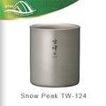 SnowPeak-雪峰鈦合金雙層杯-H200 / TW-124(露營.登山.休閒.保溫杯.杯子)