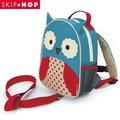 美國SKIP HOP mini backpack with rein 可愛動物園迷你背包(附防走失帶)-貓頭鷹