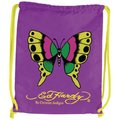 Ed Hardy - Drawstring Backpack Butterfly (Purple) 紫色蝴蝶束口袋後背包