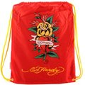 Ed Hardy - Drawstring Backpack Flower Heart (Red) 紅色花朵愛心束口袋後背包