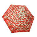 COACH 65906 咖啡C Logo紅色圓點輕量攜帶型晴雨傘