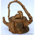 茶壺空間平價分享台灣梅山人2001年桃城手捏壺豬大爺作品