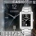 CASIO 時計屋 CITIZEN星辰錶 BD0030-51E 方型時尚石英男錶 全新保固附發票