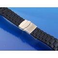 【錶帶家】Rolex Tudor 勞力士 三珠款 帝舵 黑色矽膠代用錶帶有17mm18mm19mm 20mm 21mm 22mm 23mm 24mm