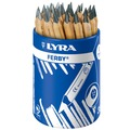 【M&B 幸福小舖】德國 LYRA 兒童三角原木鉛筆(12cm) 36入 ~ 附筆筒送LYRA削筆器~公司貨~免運