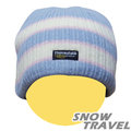 【黎陽戶外用品】雪之旅 SNOW TRAVEL 3M Thinsulate 防風透氣保暖羊毛帽AR-18C(條紋水藍) 防風帽/保暖帽/遮耳帽/羊毛帽/防寒帽 加購