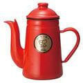 【福璟咖啡豆】Kalita琺瑯壺 大嘴鳥 咖啡達人 手沖壺 琺瑯鶴嘴手沖壺1.0L(紅色)