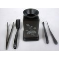 禾豐茗茶 茶夾 黑檀六件組 (產品編號:TPE013)
