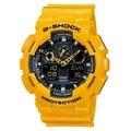 CASIO ( GA-100A-9ADR) G-SHOCK  重機裝置‧3D錶盤抗磁雙顯腕錶 - 黃色
