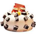 【千家軒】精緻生日蛋糕-巧雪6吋 (巧克力蛋糕體+水果+布丁)