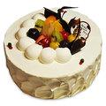 【千家軒】精緻生日蛋糕- 巴黎戀人6吋 (香草蛋糕體+水果+布丁)