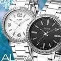 CASIO時計屋 SEIKO ALBA手錶 AG8275X1 黑白經典 時尚閃耀女錶 保固附發票