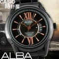 CASIO時計屋 SEIKO ALBA手錶 AS9233X1 黑金時尚不鏽鋼男錶 優雅紳士 保固附發票