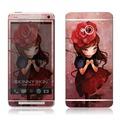韓國知名SKINNYSKIN彩膜 NEW HTC ONE (玫瑰少女)百款圖案任選輕鬆DIY搭配待機圖