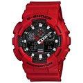 寶儷鐘錶【分期0利率】CASIO G-SHOCK GA-100B-4A 紅黑 雙顯 大表徑 公司貨 免運費