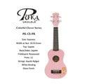 【小富富樂器館】PUKA PK-CS 21吋 幸運草 烏克麗麗 粉紅色 特價出清 (送琴袋+調音器+PICK+背帶)聲音亮 (出清特價)