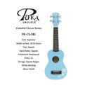 【小富富樂器館】PUKA PK-CS-SBL 21吋幸運草系列烏克麗麗 淡藍色(送琴袋+調音器+PICK+背帶)聲音亮 (出清特價)