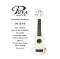 【小富富樂器館】PUKA PK-CS-WH 21吋 幸運草系列 烏克麗麗 白色(送琴袋+調音器+PICK+背帶)聲音亮 (出清特價)