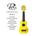 【小富富樂器館】PUKA PK-CS-YL 21吋 幸運草系列 烏克麗麗 黃色(送琴袋+調音器+PICK+背帶)聲音亮 (出清特價)