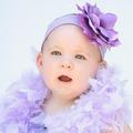 ★MerryGoAround★ Jamie Rae Hats 嬰幼兒俏麗髮帶: 玫瑰花: 薰衣草: Jamie-2204