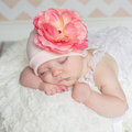 ★MerryGoAround★ Jamie Rae Hats 嬰幼兒保暖綿帽: 玫瑰: 糖果粉色淡粉底: Jamie-0556