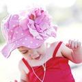★MerryGoAround★ Jamie Rae Hats 嬰幼兒防曬遮陽帽: 牡丹: 糖果粉色糖果點底: Jamie-0201