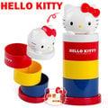 《軒恩株式會社》KITTY 凱蒂貓 可愛桌上型 三層 旋轉 收納盒 置物盒 飾品盒 005008
