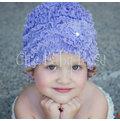 ★MerryGoAround★ Chic Baby Rose Beanie: 浪漫蕾絲帽: 薰衣草: Rose-BN-301