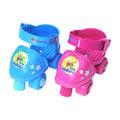 成功 比比狗 兒童安全四輪溜冰鞋組(A020/A020-1)直排輪/健身運動 已停產剩藍色兩雙